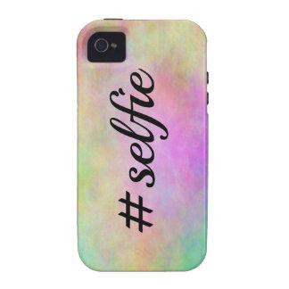impresión colorida del #selfie iPhone 4 carcasas