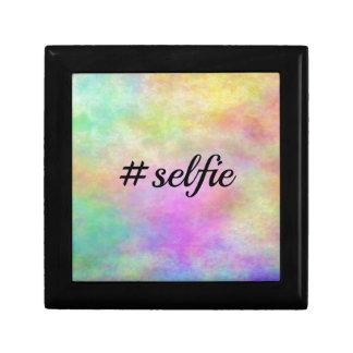 impresión colorida del #selfie cajas de recuerdo