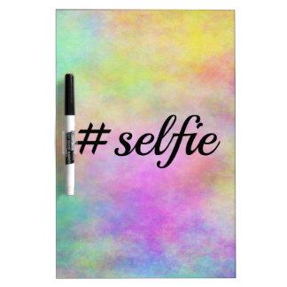 impresión colorida del #selfie pizarras blancas