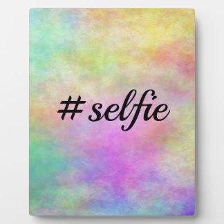 impresión colorida del #selfie placas