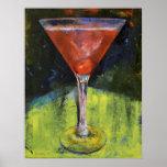 Impresión cómoda de Martini de la cereza Póster