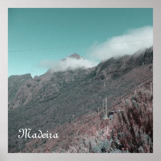 Impresión con la niebla, Madeira Póster