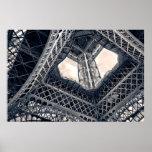 Impresión con marco de acero de Eiffel Posters
