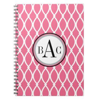 Impresión con monograma de Bubblegum Barcelona Spiral Notebook