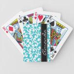 Impresión con monograma de los elementos de la agu baraja cartas de poker