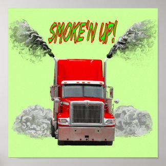 """Impresión con """"SMOKE'N PARA ARRIBA!"""" diseño Póster"""