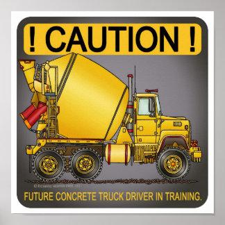Impresión concreta futura del poster del conductor