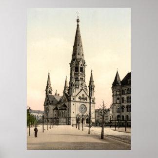 Impresión conmemorativa de la iglesia de Wilhelm d Posters