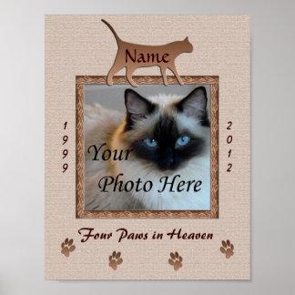 Impresión conmemorativa del gato - Brown entona pe Poster
