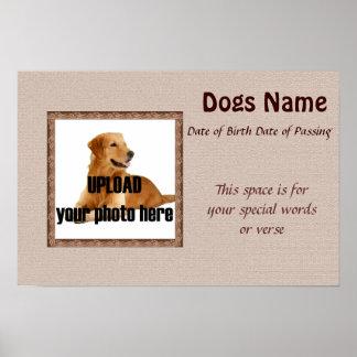 Impresión conmemorativa del perro - tonos de Brown Impresiones