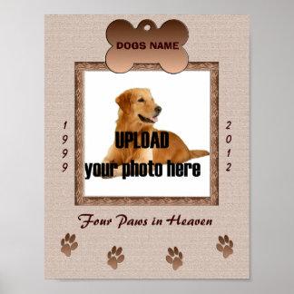 Impresión conmemorativa del perro - tonos de Brown Poster