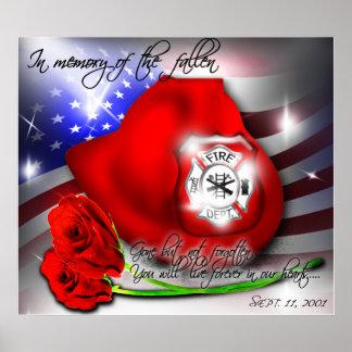 Impresión conmemorativa del poster del 9 /11 de se
