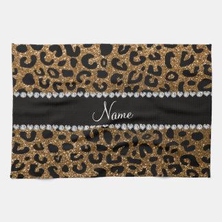 Impresión conocida de encargo del guepardo del bri toalla de cocina