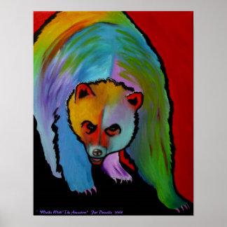 Impresión contemporánea del oso póster