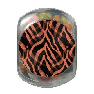 Impresión coralina elegante de las rayas de la frascos de cristal jelly belly