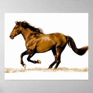 Impresión corriente del poster del caballo
