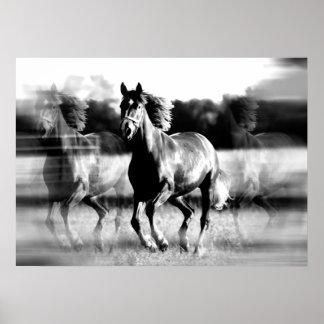 Impresión corriente del poster del caballo - poste