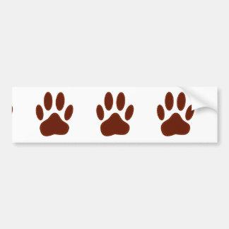Impresión cosida de la pata del perro del fieltro pegatina para coche