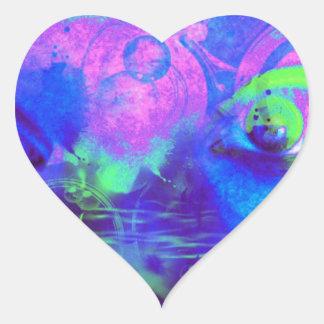 Impresión cósmica de los ojos colcomanias de corazon personalizadas