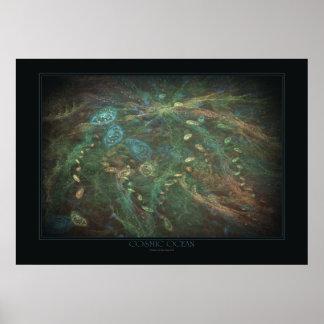 Impresión cósmica del océano posters
