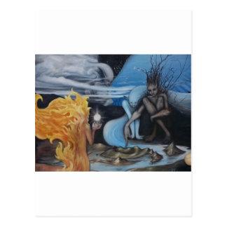 impresión creación-original de la pintura al óleo tarjetas postales