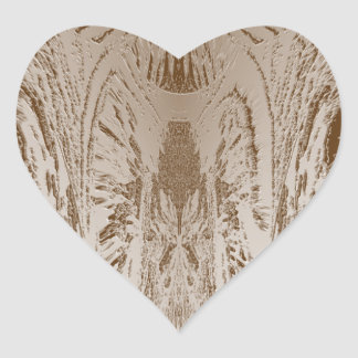 Impresión creada artista de la hoja de oro del pegatina en forma de corazón