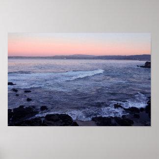 Impresión crepuscular de la tarde costera