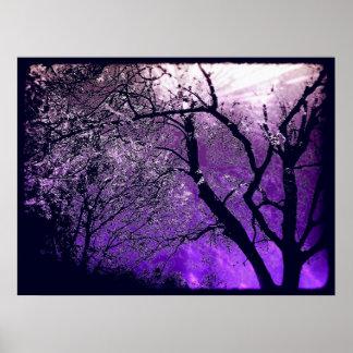 Impresión crepuscular del poster de la neblina