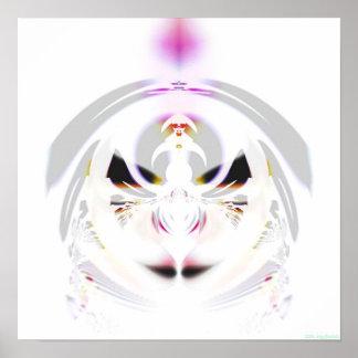Impresión cristalina 1d póster