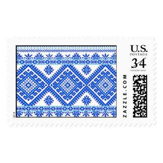 Impresión cruzada ucraniana de la puntada del sellos