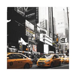 Impresión cuadrada de la lona del taxi NYC Impresion En Lona