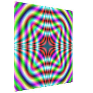 Impresión cuadrada de neón de la lona impresión en lona