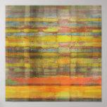 Impresión cuadrada del poster del arte abstracto