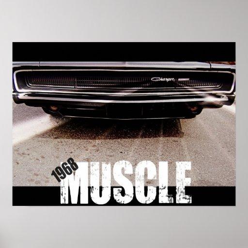 Impresión de 1968 músculos poster