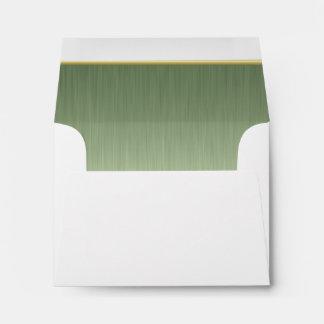 Impresión de acero alineada del cepillo del sobre