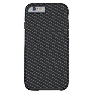 Impresión de adaptación de la parrilla del carbón funda resistente iPhone 6