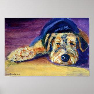 Impresión de Airedale Terrier Póster