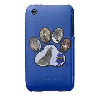 Impresión de Alaska de la pata del lobo Funda Bareyly There Para iPhone 3 De Case-Mate