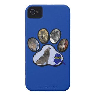 Impresión de Alaska de la pata del lobo Funda Para iPhone 4 De Case-Mate