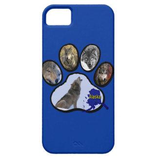 Impresión de Alaska de la pata del lobo Funda Para iPhone SE/5/5s