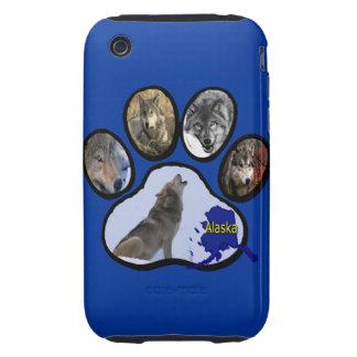 Impresión de Alaska de la pata del lobo Funda Though Para iPhone 3