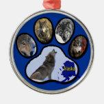 Impresión de Alaska de la pata del lobo Ornato