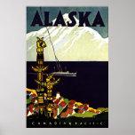 Impresión de Alaska del vintage Posters