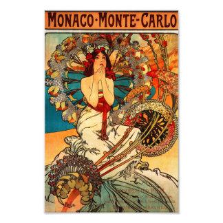 Impresión de Alfonso Mucha Monte Carlo Cojinete