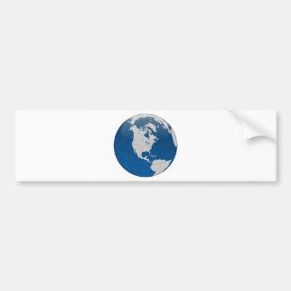Impresión de alta calidad de la tierra azul pegatina para auto