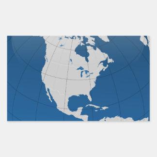 Impresión de alta calidad de la tierra azul pegatina rectangular