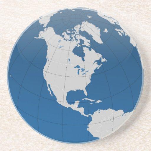 Impresión de alta calidad de la tierra azul posavasos manualidades