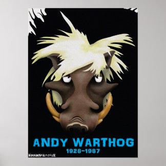 Impresión de Andy Warthog Póster
