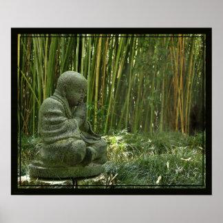 Impresión de bambú -24x20 de Buda - otro clasifica