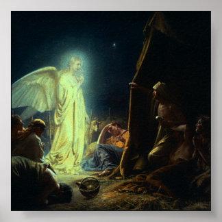 Impresión de Belén del navidad Poster